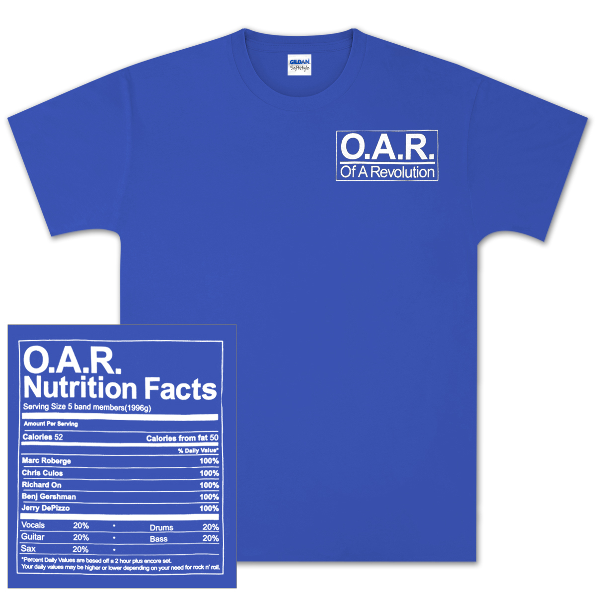 O.A.R. Nutritional Value T-Shirt