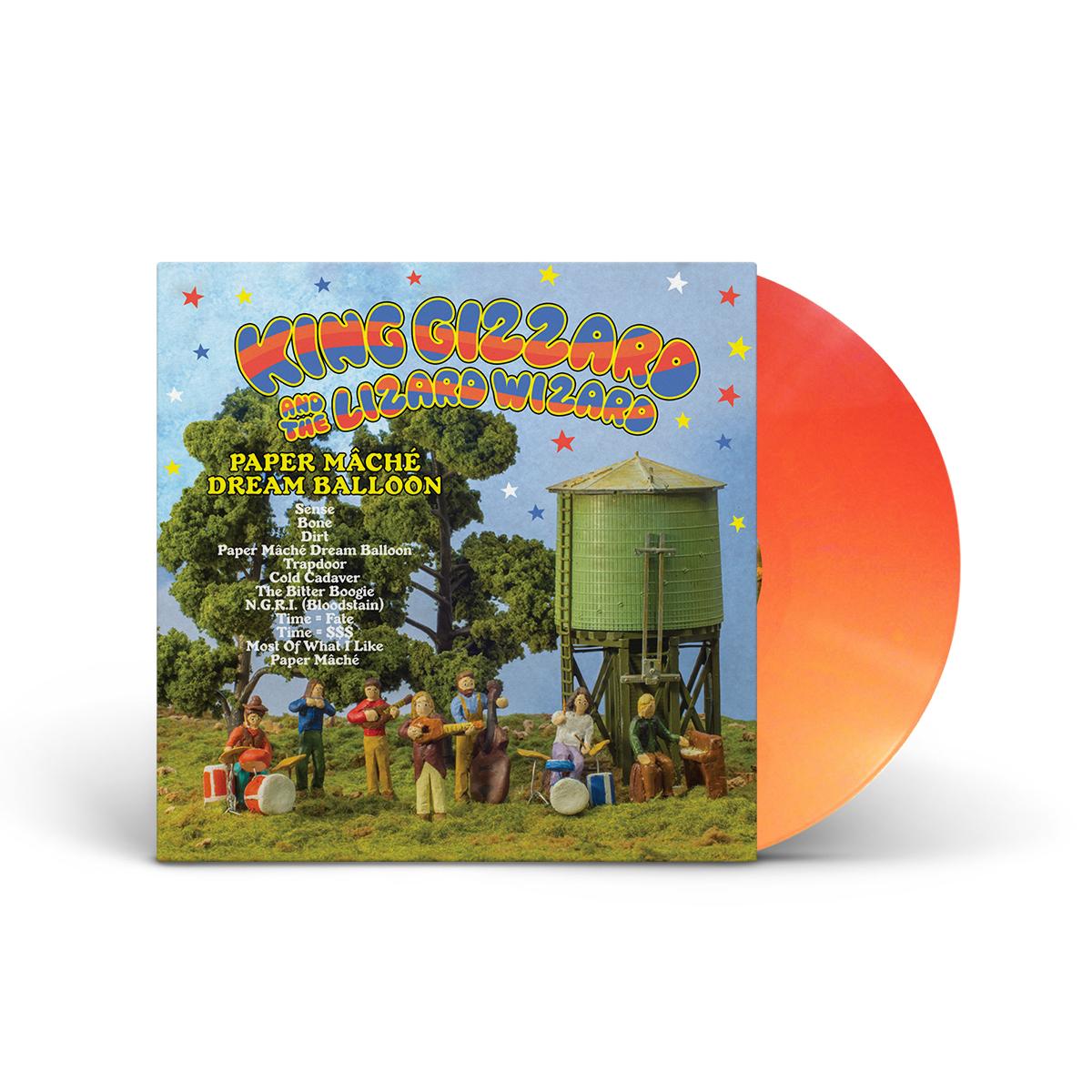 "King Gizzard & The Lizard Wizard – ""Paper Mache Dream Balloon"" Custom Orange Vinyl"