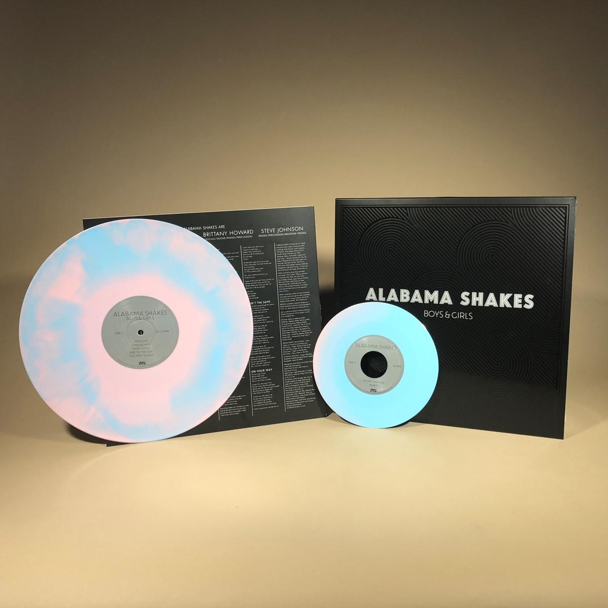 "Alabama Shakes -Boys & Girls ""Platinum Anniversary"" Colored Vinyl Reissue + Bonus 7"" (Pink/Turquoise Swirl)"