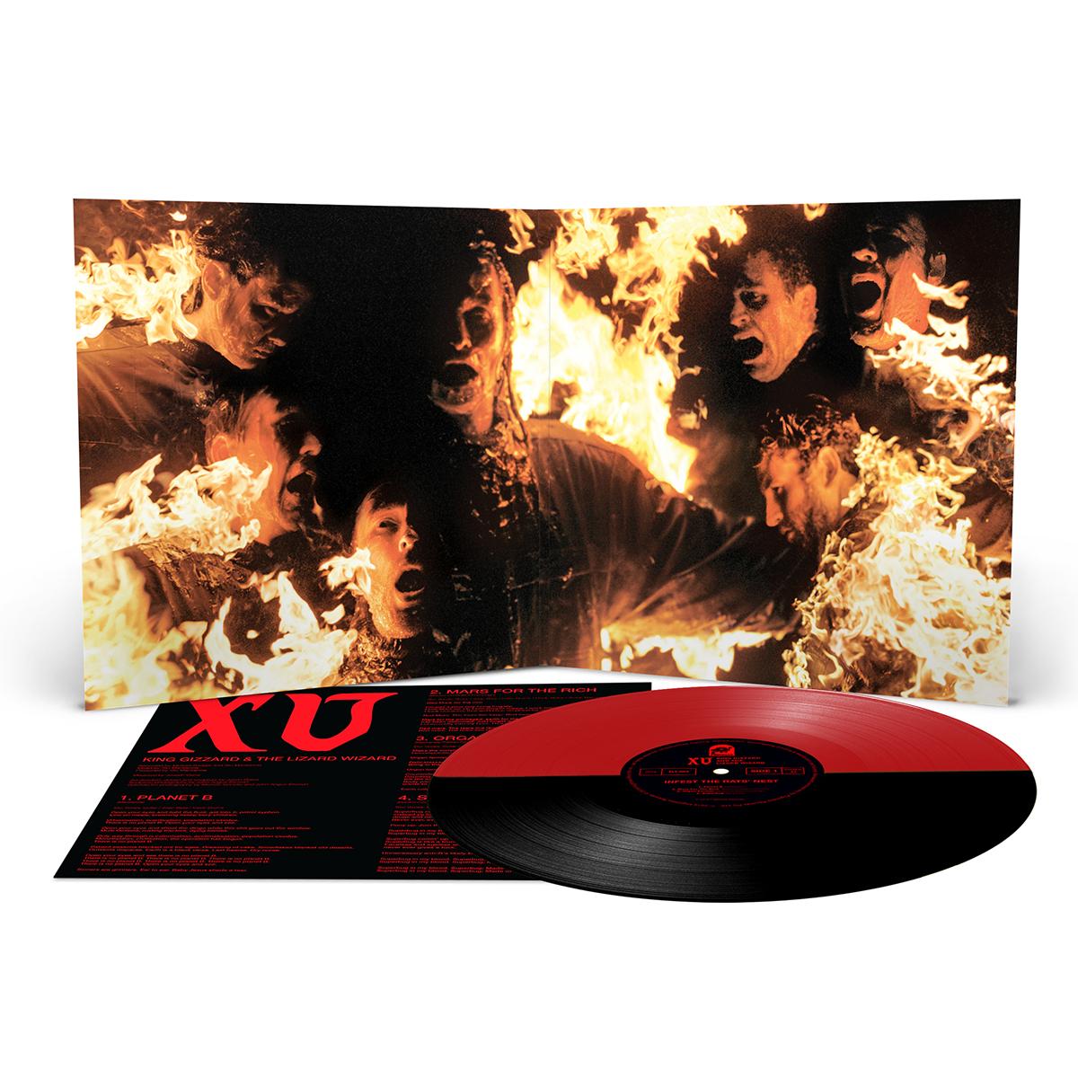 "King Gizzard & The Lizard Wizard – ""Infest The Rats' Nest"" Black/Red Split Vinyl"
