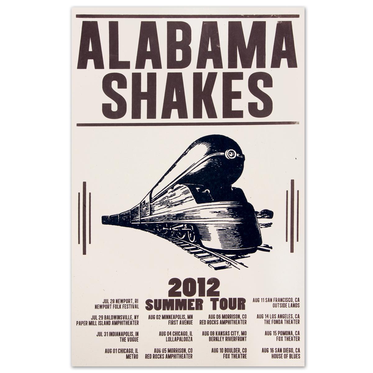 Alabama Shakes Summer 2012 Tour Poster