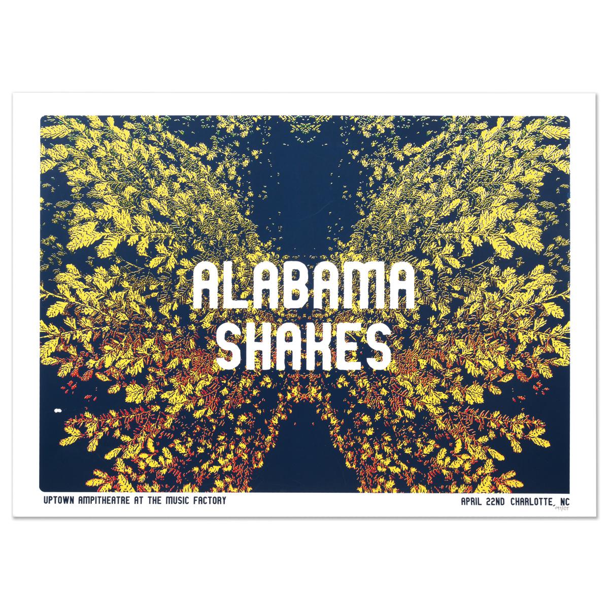 Alabama Shakes Show Poster - Charlotte, NC 4/22/2016 | Musictoday ...