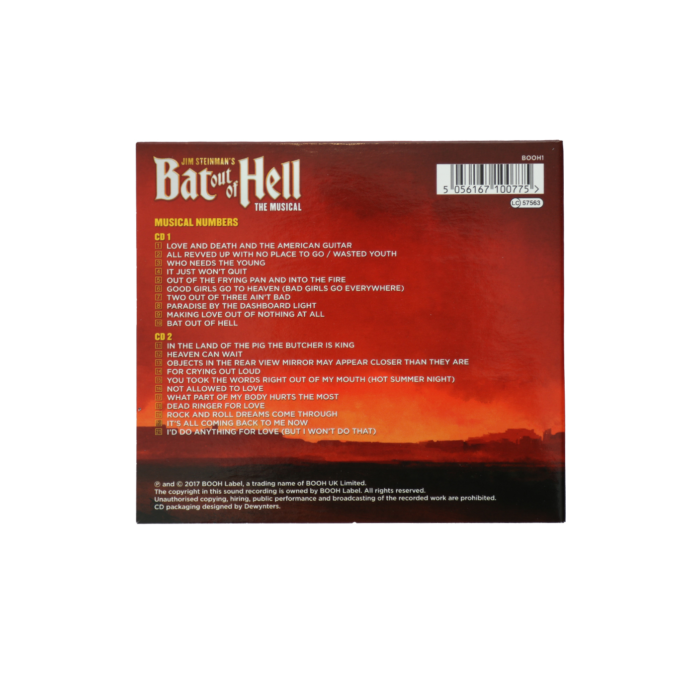 Bat Out Of Hell Cast CD