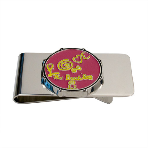 The Beatles Love Drum Money Clip - Pink