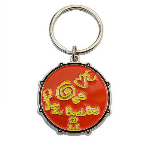 The Beatles Love Drum Keychain - Red