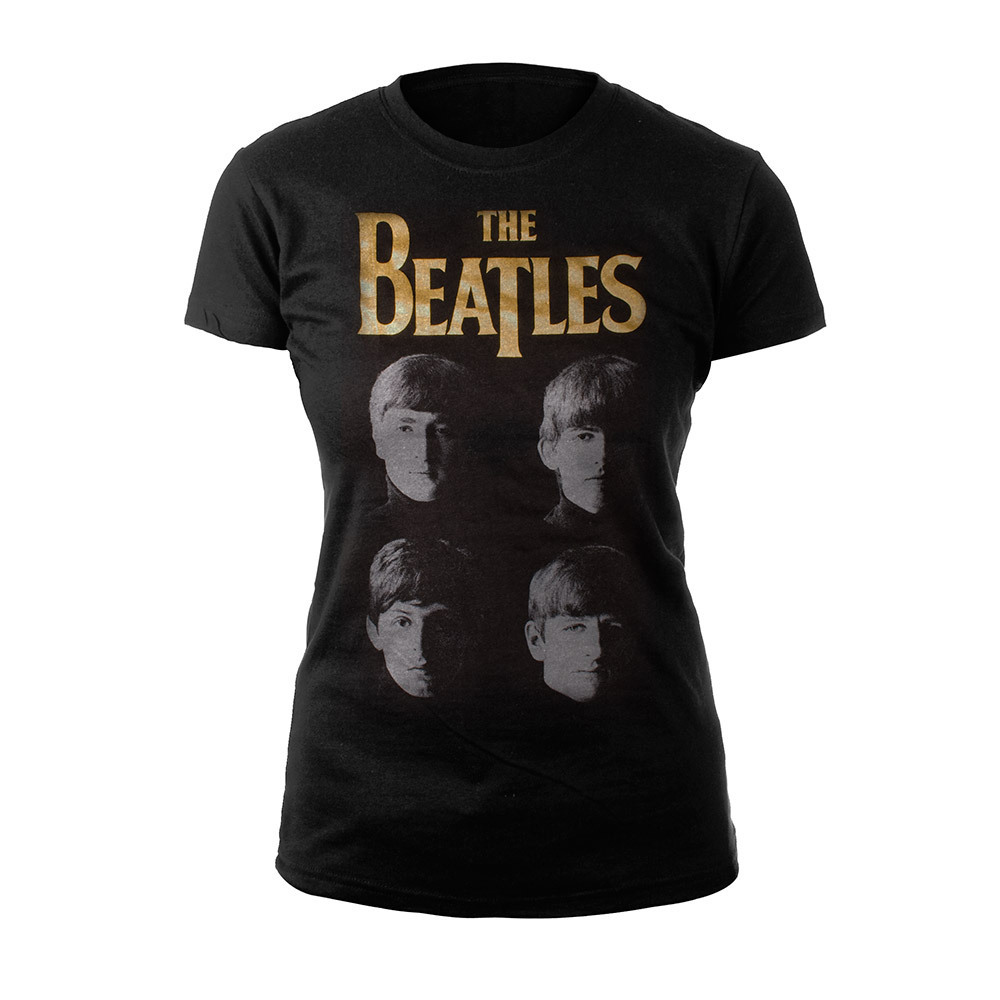 With The Beatles Gold Foil Women's Shirt