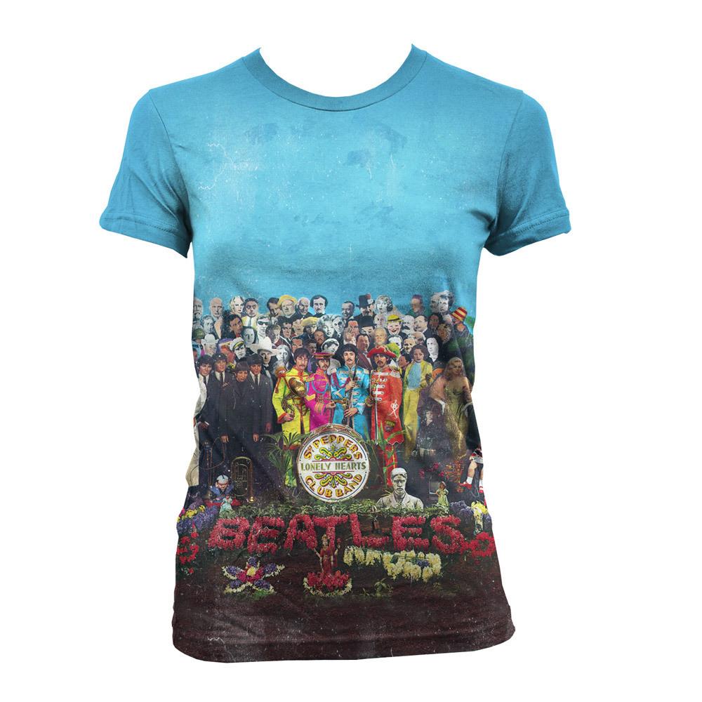 The Beatles Sgt. Pepper's Album Cover Sublimation Women's Shirt