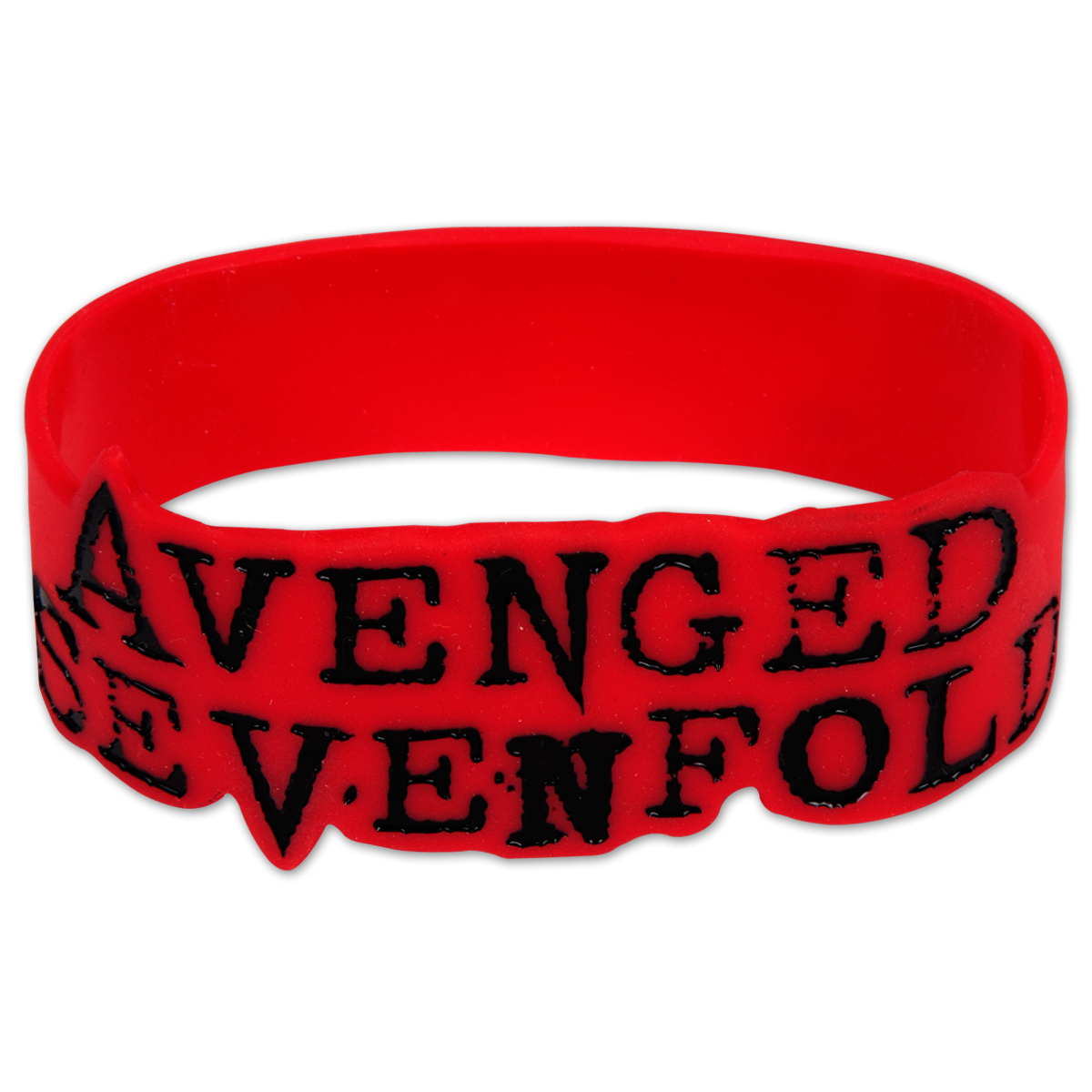 Avenged Sevenford Red Logo Rubber Bracelet