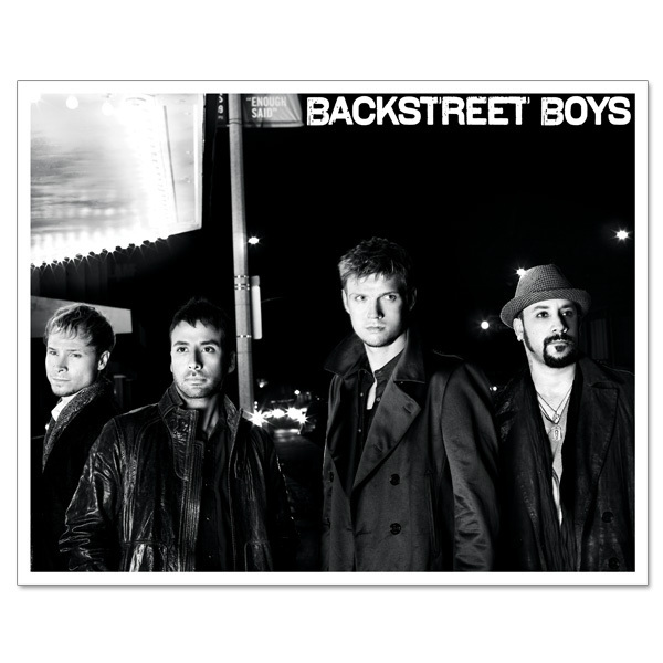 Backstreet Boys 8x10 Black & White Group Photo