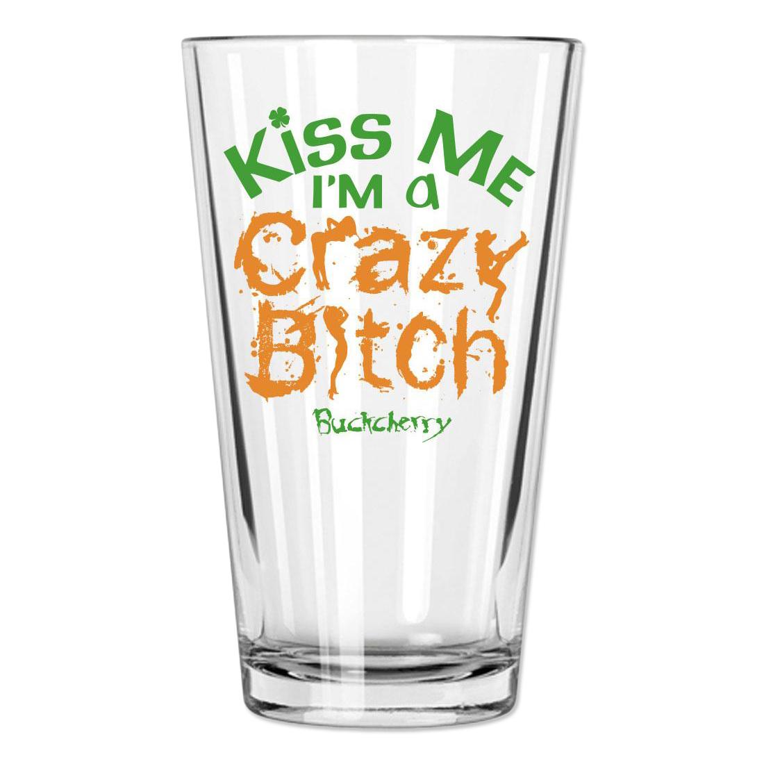 Buckcherry St Patricks Day Kiss Me Pint Glass