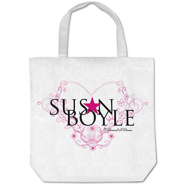 Susan Boyle Fleur Heart White Totebag