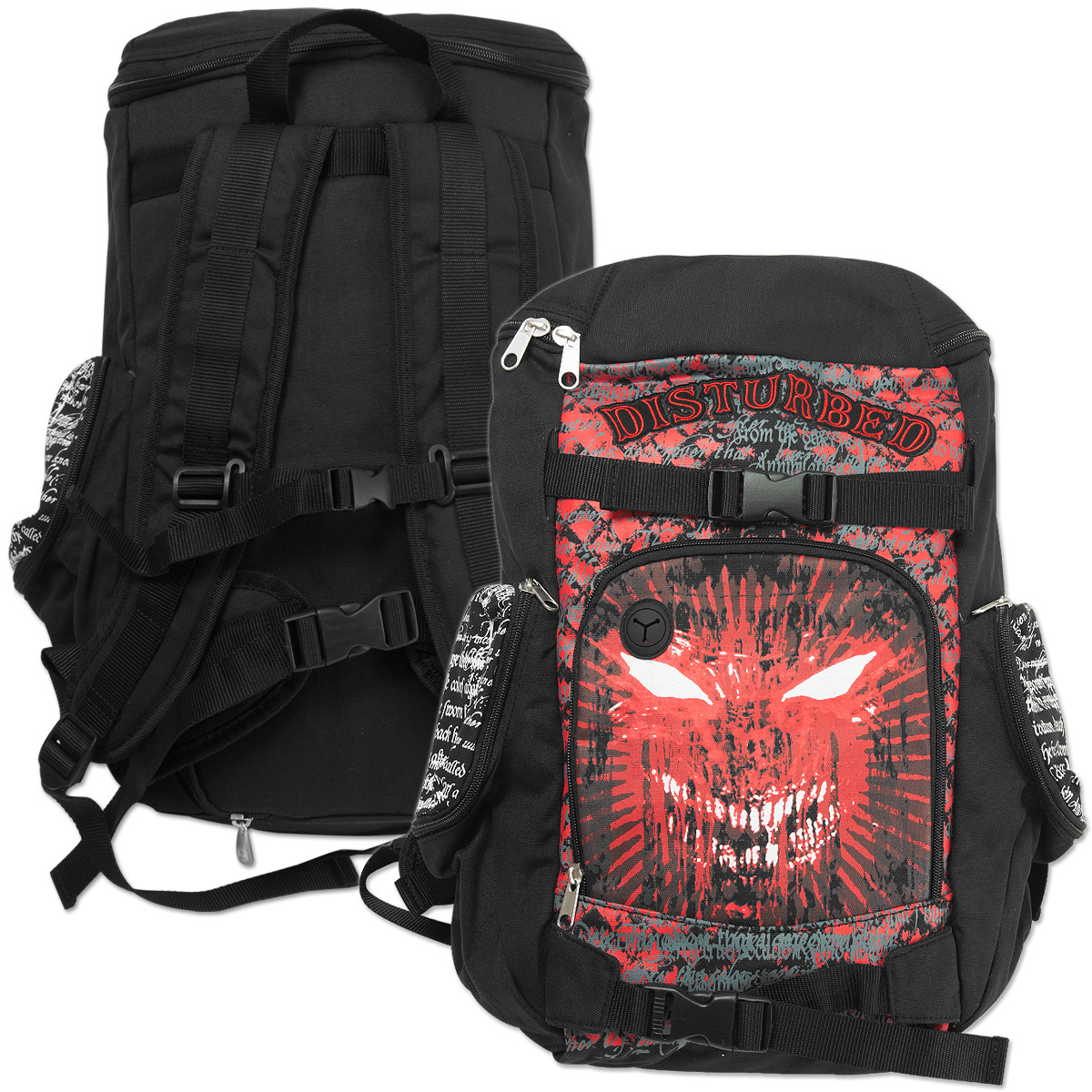 Disturbed Metal Face Backpack
