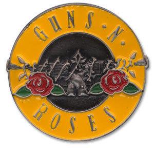 Guns N' Roses Bullet Logo Enameled Belt Buckle