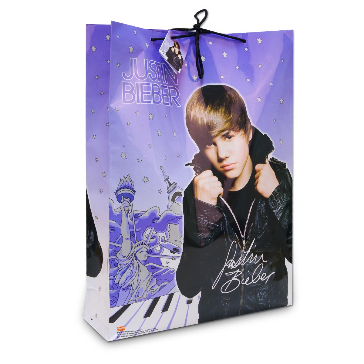 Justin Bieber Glossy Gift Bag - Jumbo