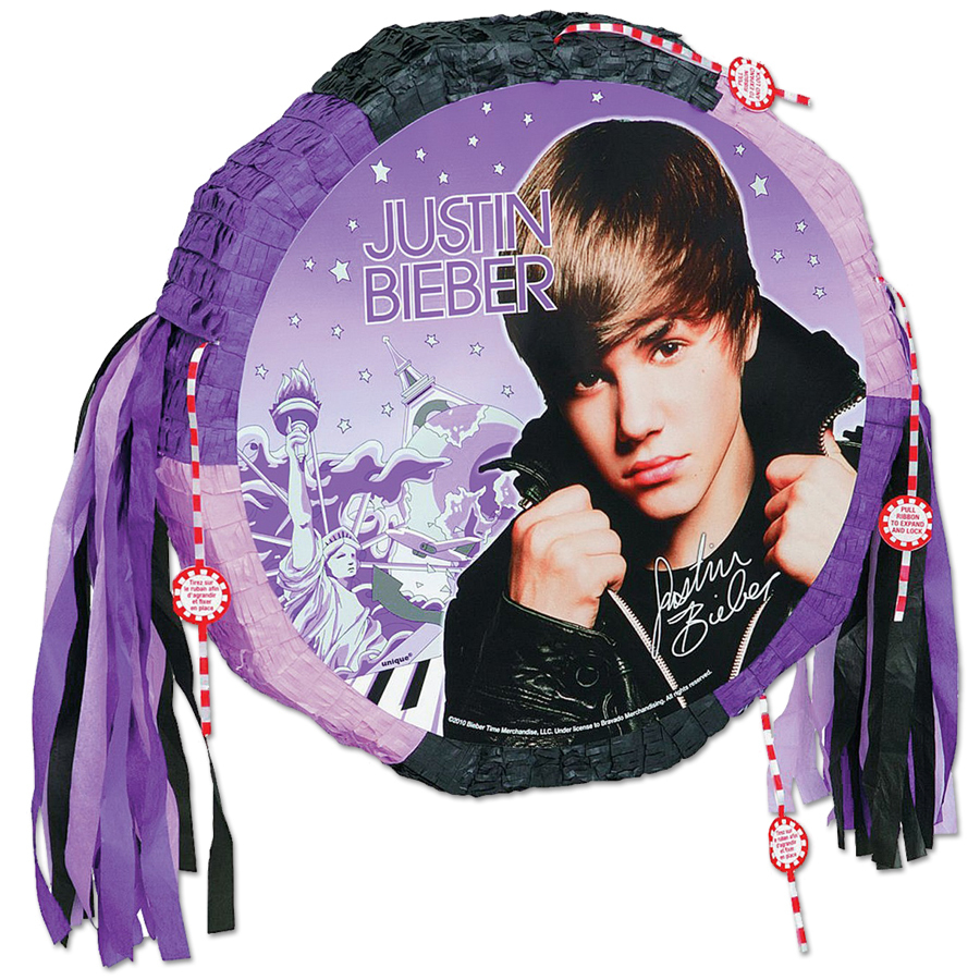 Justin Bieber Drum Pull Pop-Out Pinata®