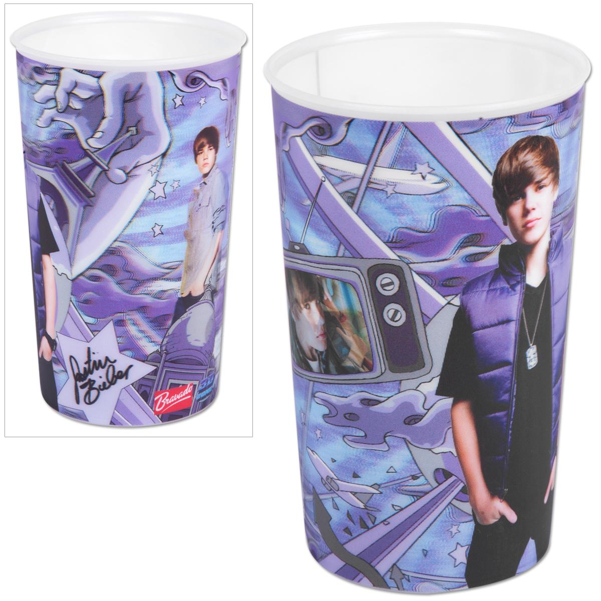 Justin Bieber Purple Vest Lenticular Cup