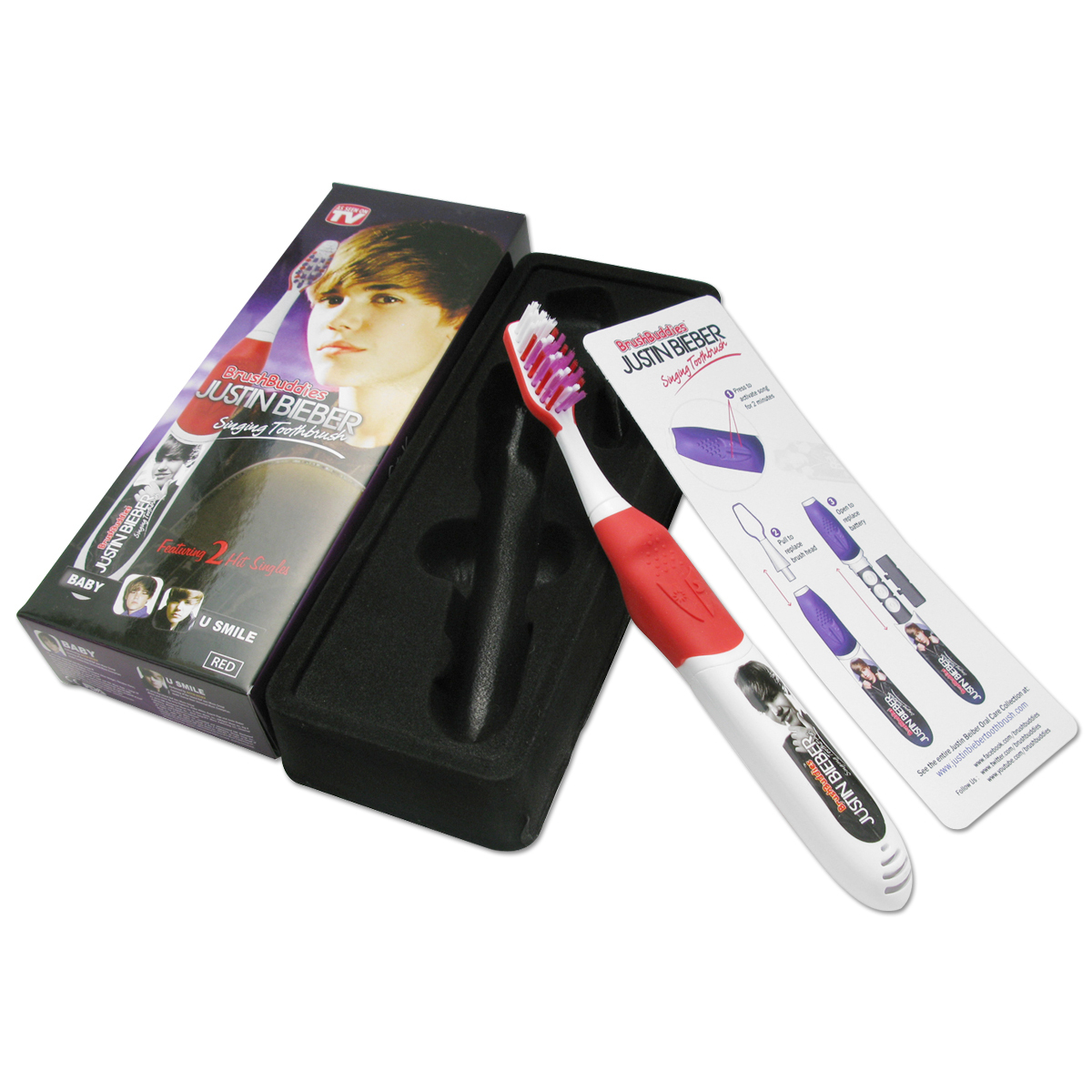 Justin Bieber Singing Toothbrush Featuring Baby and U Smile