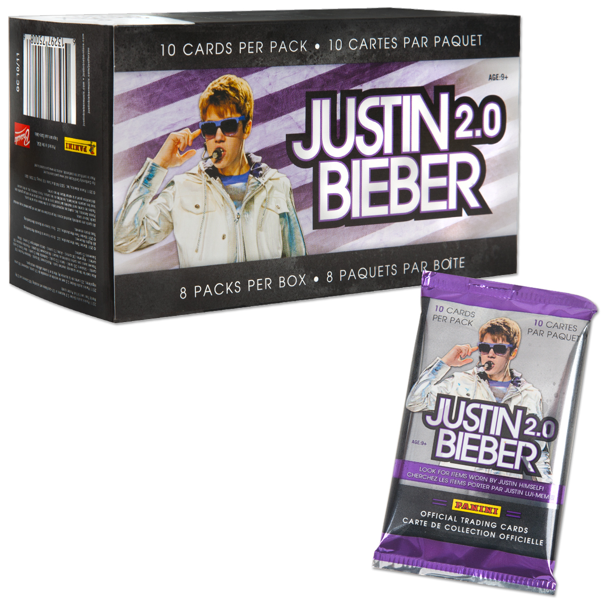 Justin Bieber 2.0 Trading Cards - 8 Pack Box