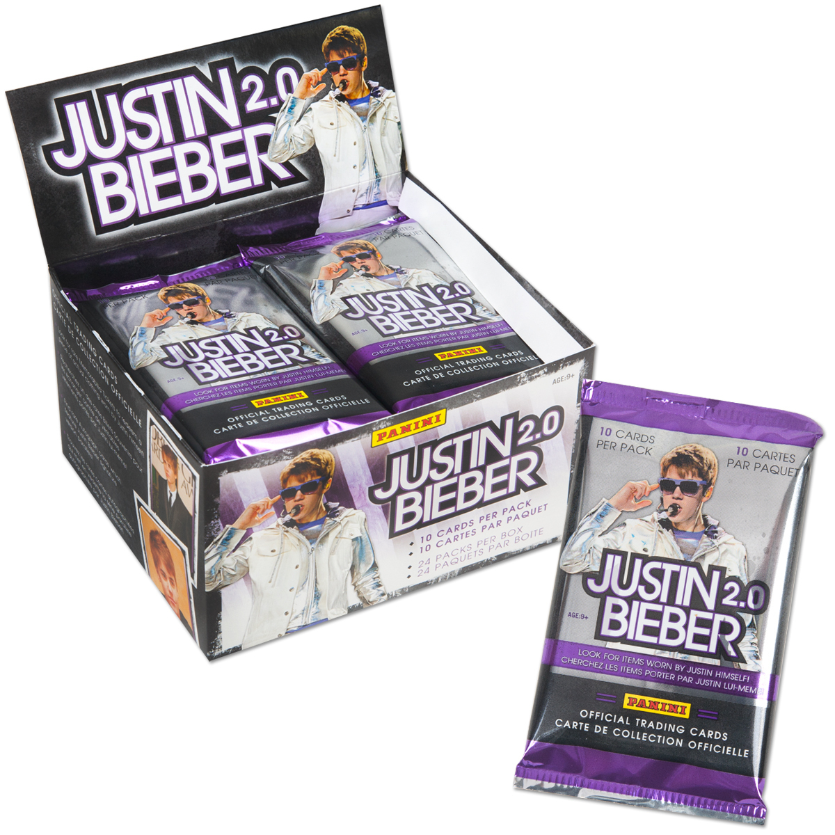 Justin Bieber 2.0 Trading Cards - 24 Pack Box
