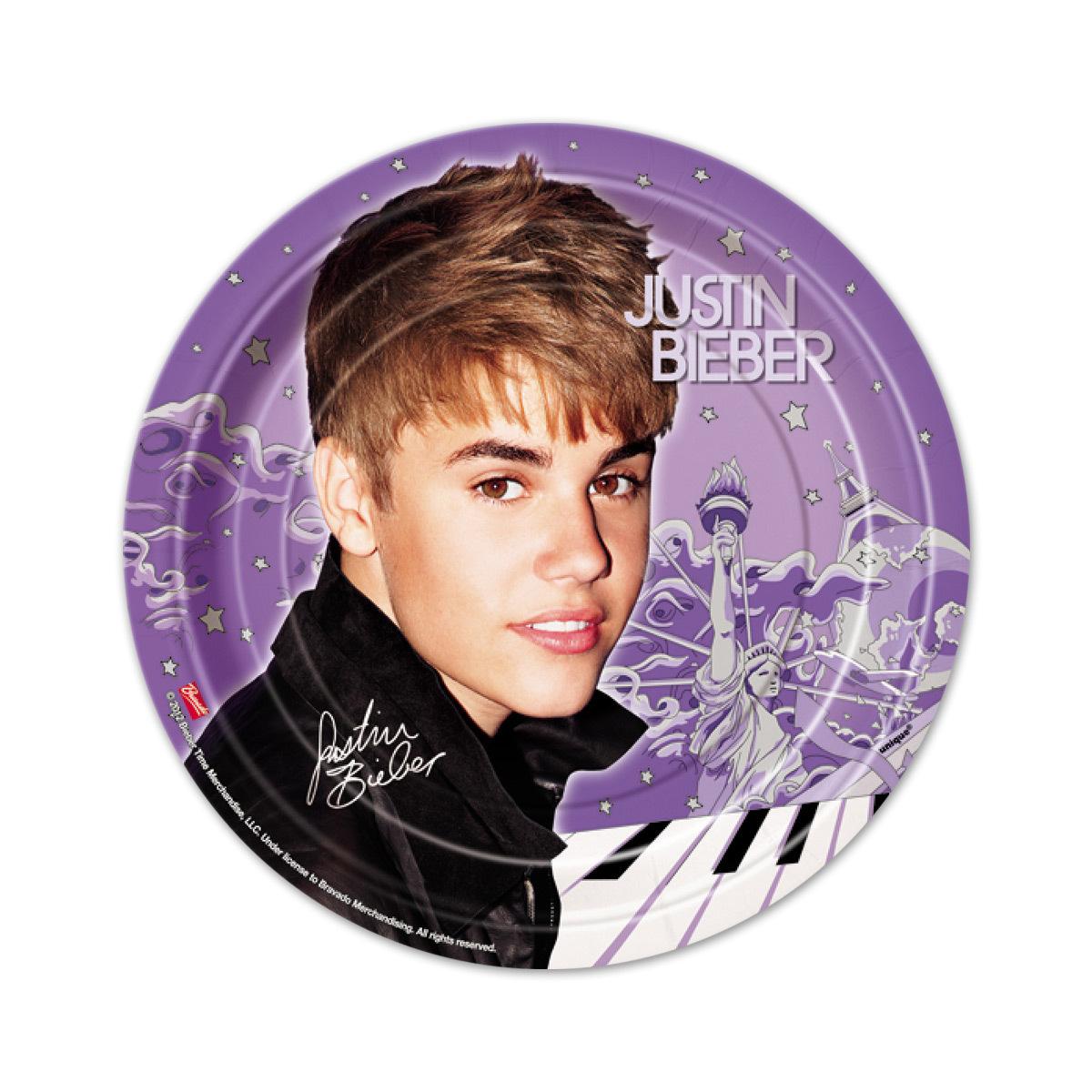 "Justin Bieber 2 7"" Plate"