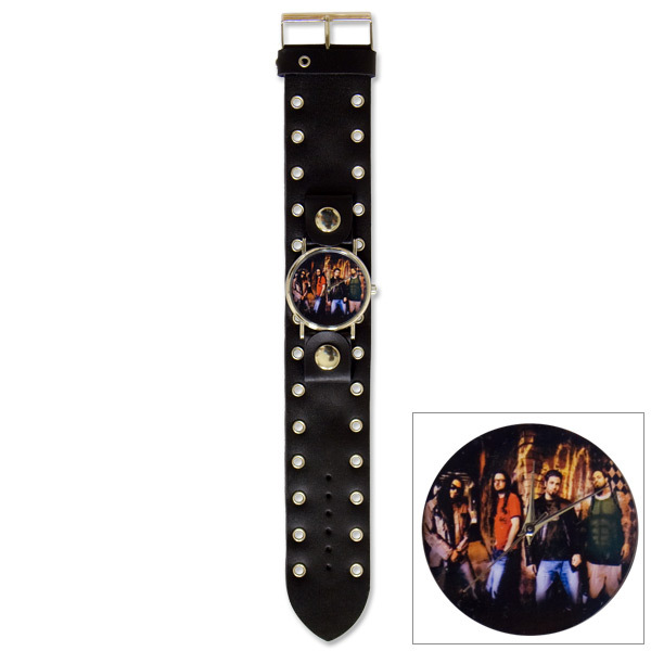 Korn Photo Riveted Holes Single Wide Cuff Watch