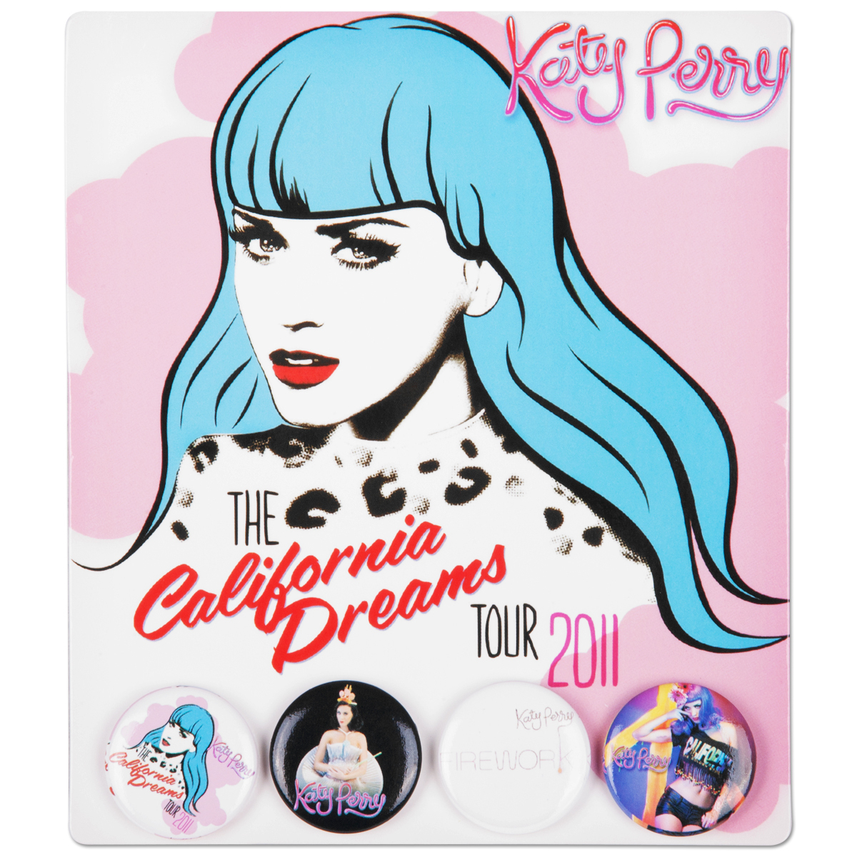 Katy Perry 2011 Tour Button Set