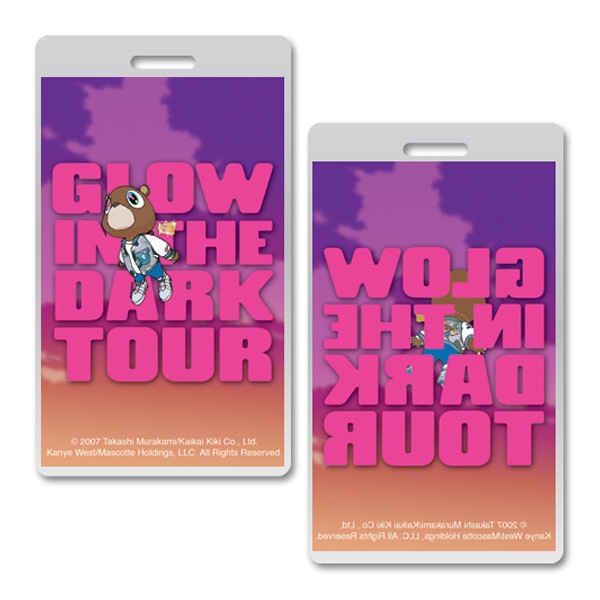 Kanye West Glow in the Dark Tour Laminate