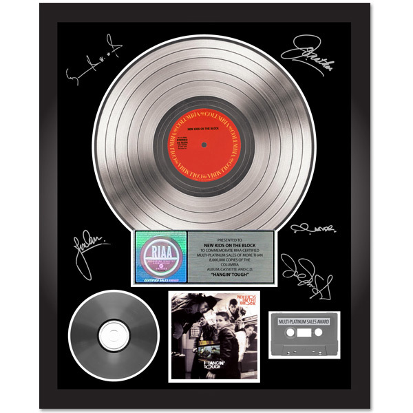 New Kids on the Block Hangin' Tough Autographed Platinum Album