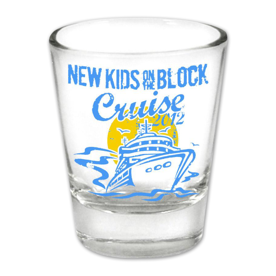 New Kids on the Block 2012 Cruise Shotglass