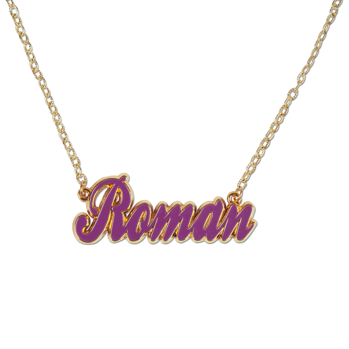 Nicki Minaj Script Logo Necklace