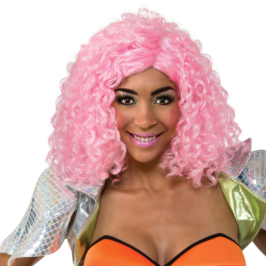 Nicki Minaj Pink Curly Wig