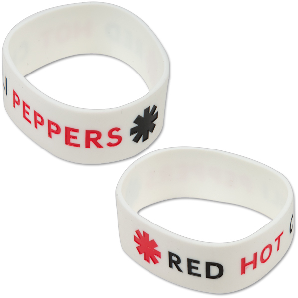 Red Hot Chili Peppers White Rubber Bracelet