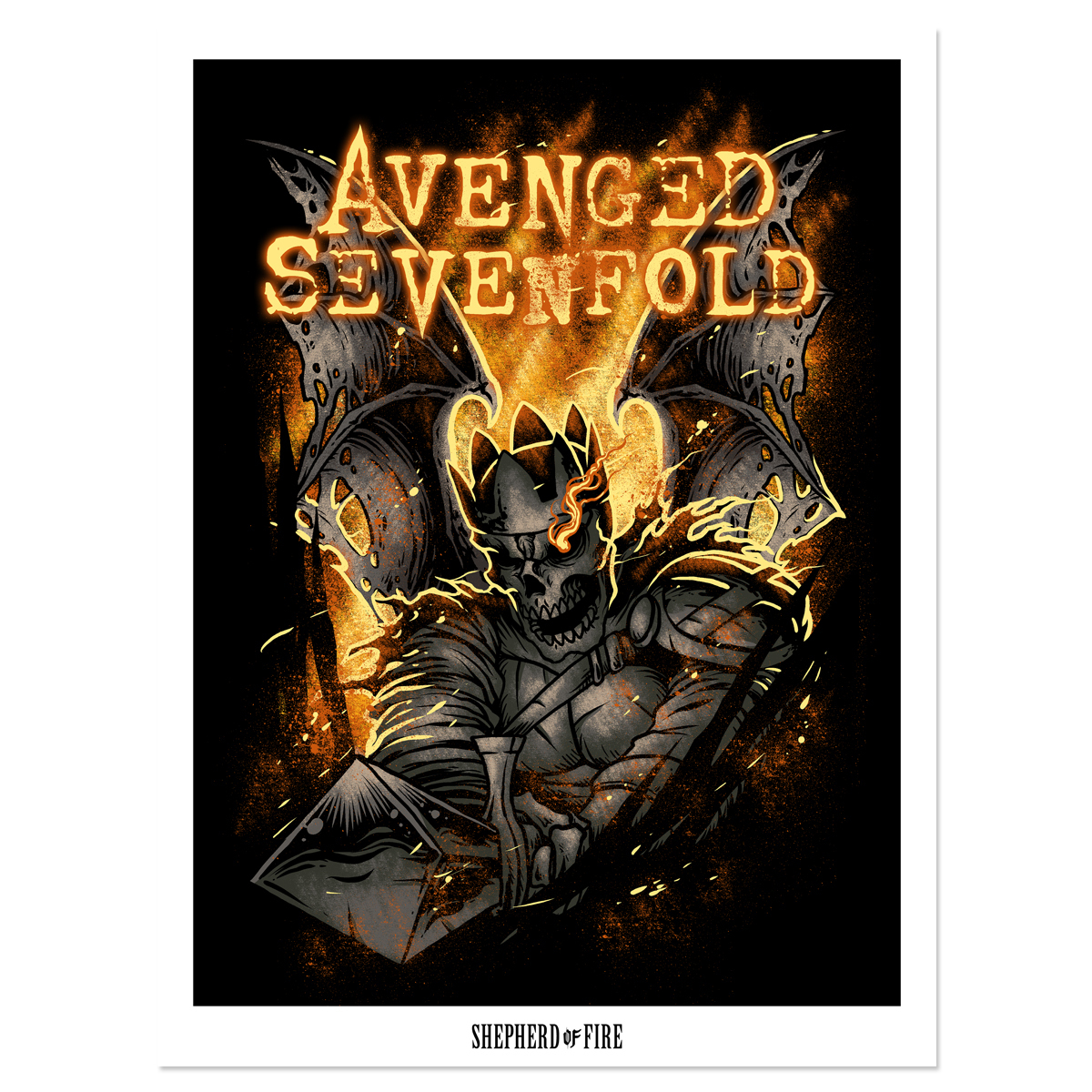 Avenged Sevenfold Shepherd of Fire Poster