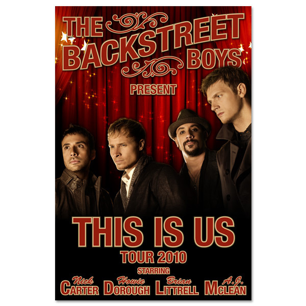 Backstreet Boys This Is Us Tour Poster