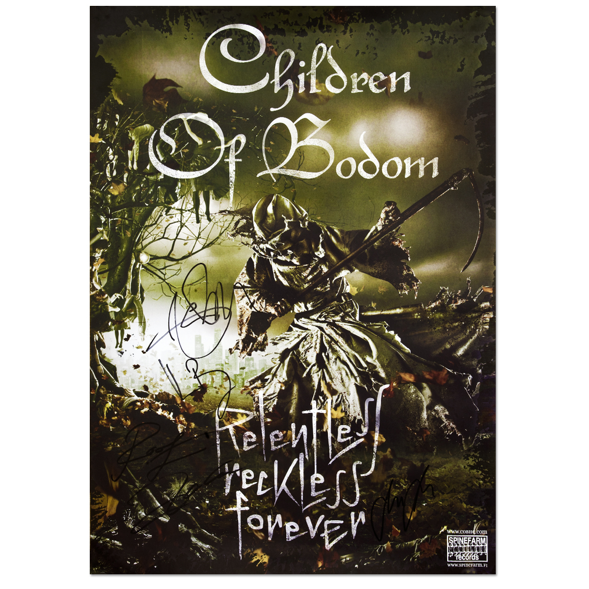 Children Of Bodom Autographed Poster