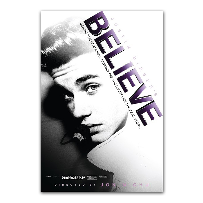 Justin Bieber Believe B/W Art Print