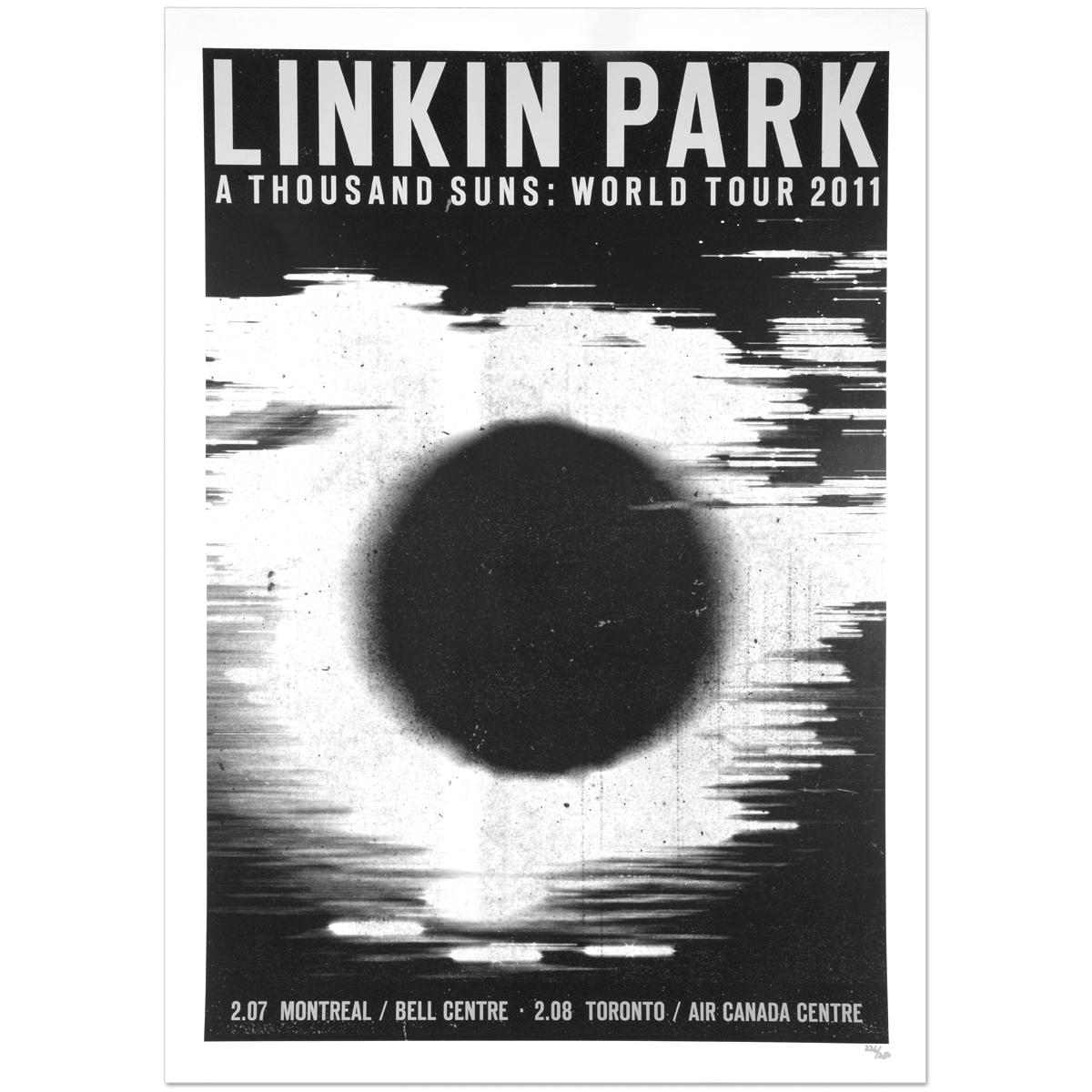 Linkin Park Canada Tour Lithograph