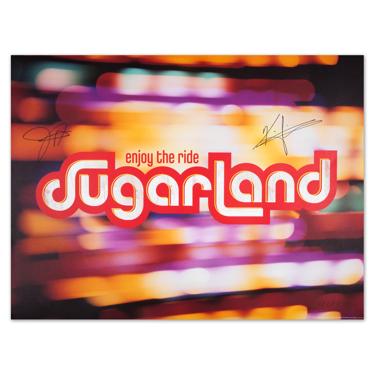 Sugarland Enjoy the Ride Autographed Litho