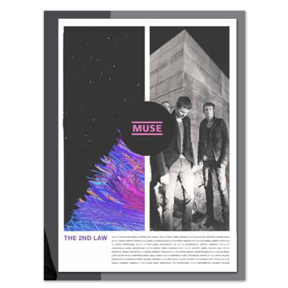 Muse Split Tour Poster