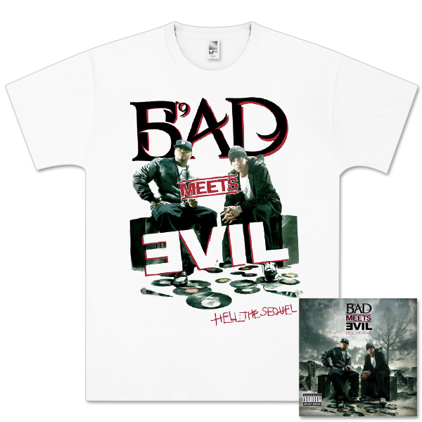 Bad Meets Evil - Hell: The Sequel Deluxe Edition CD/T-Shirt Bundle