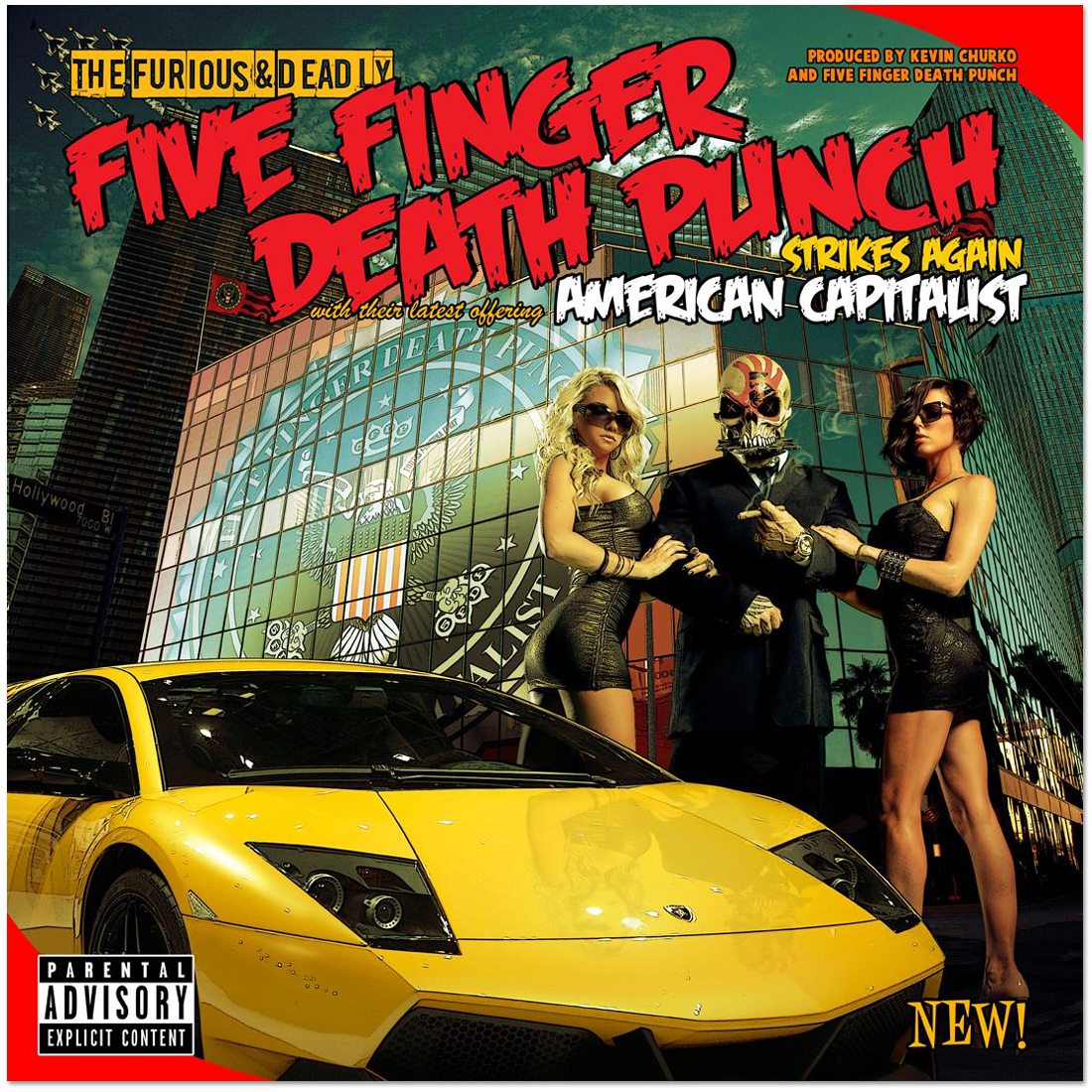Five Finger Death Punch - American Capitalist Deluxe CD