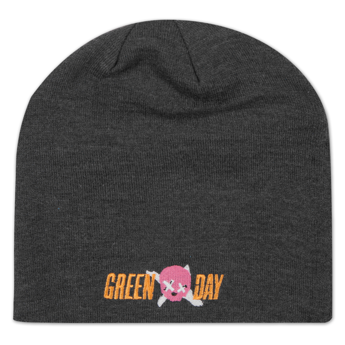 Green Day Skull Logo Slouch Beanie
