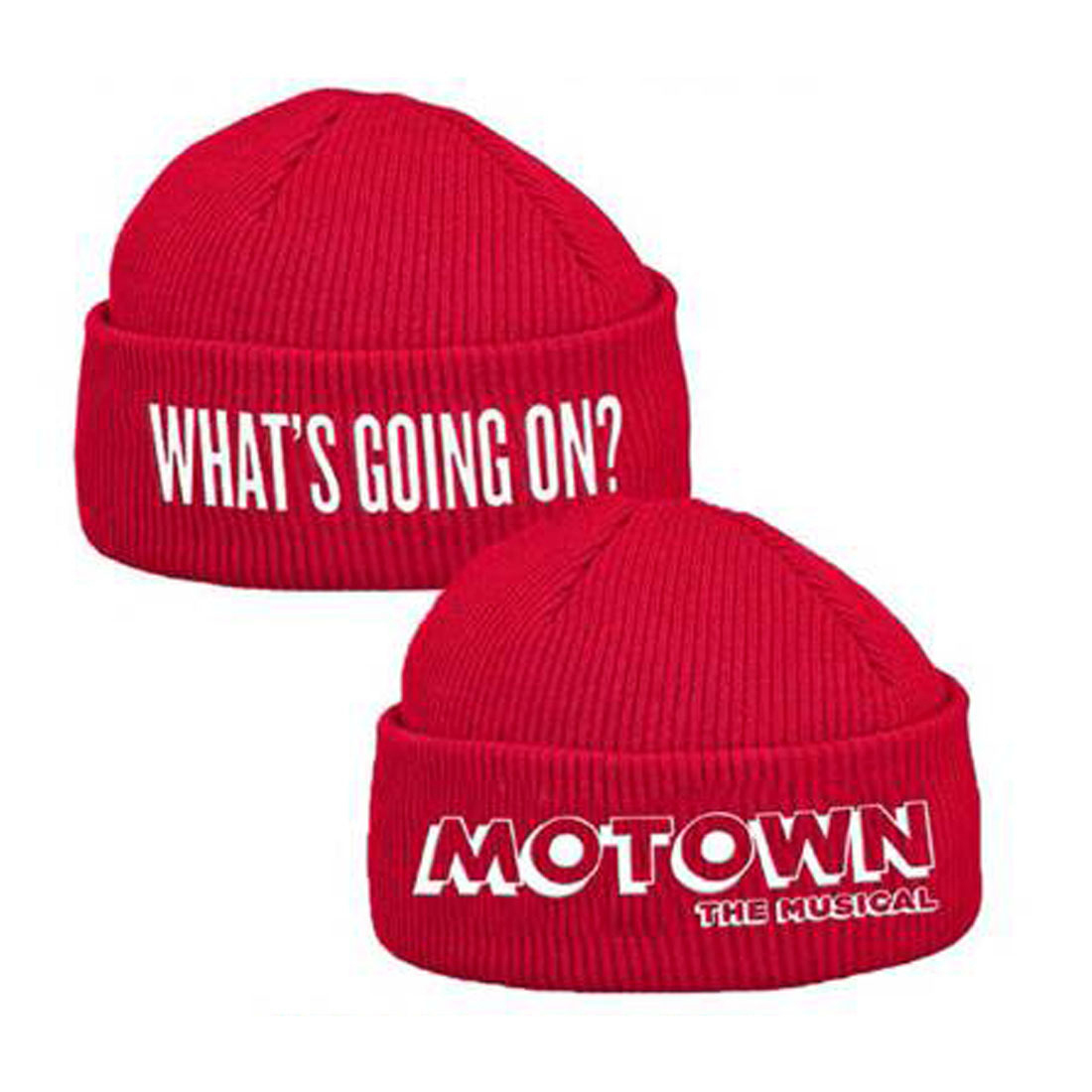 What's Going On Motown Red Beanie