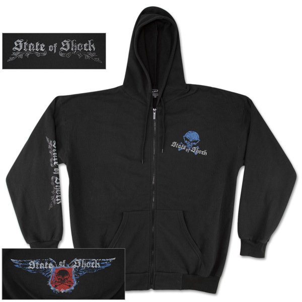 State of Shock Crossbones Zip Hoodie