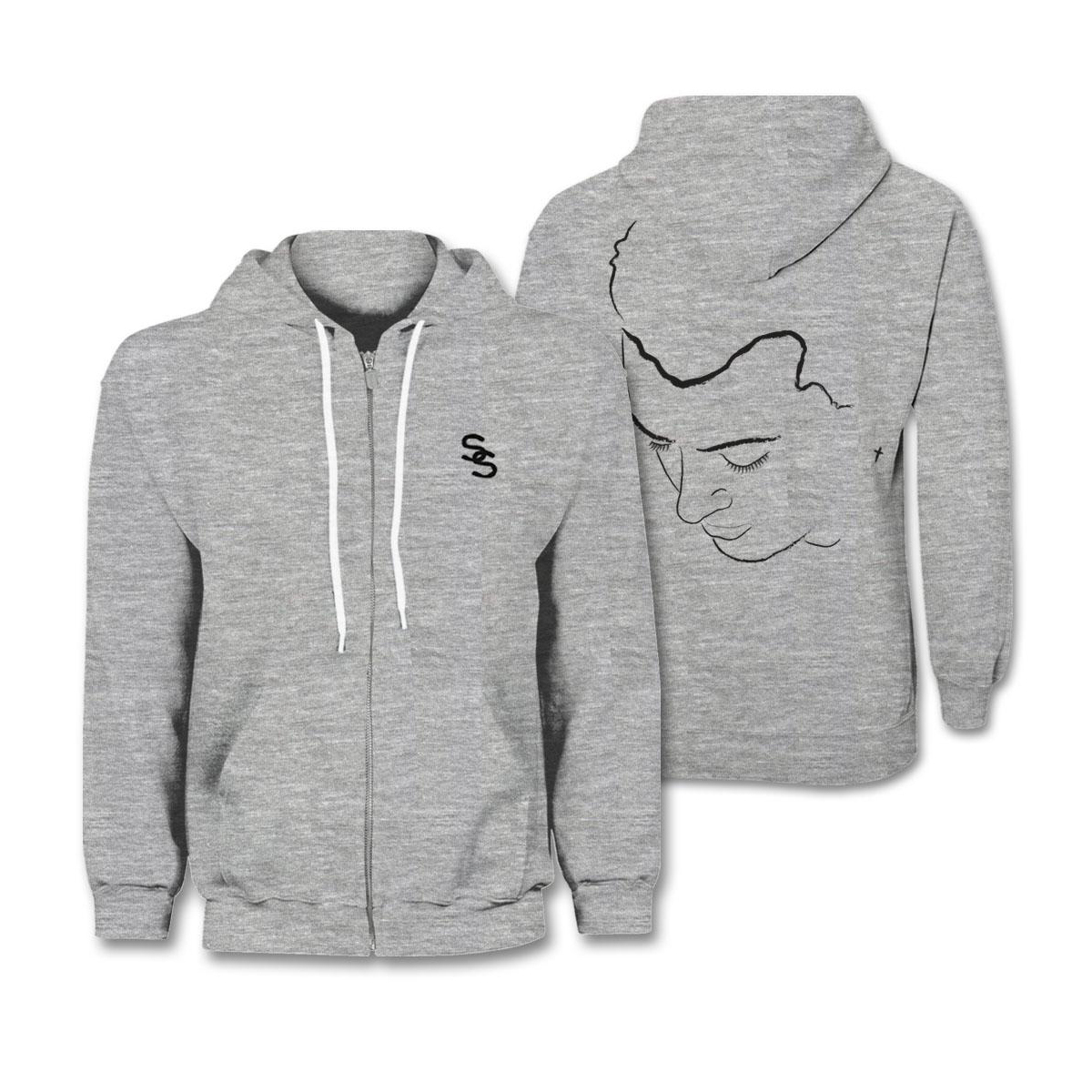Sam Smith Portrait Zip Hoodie