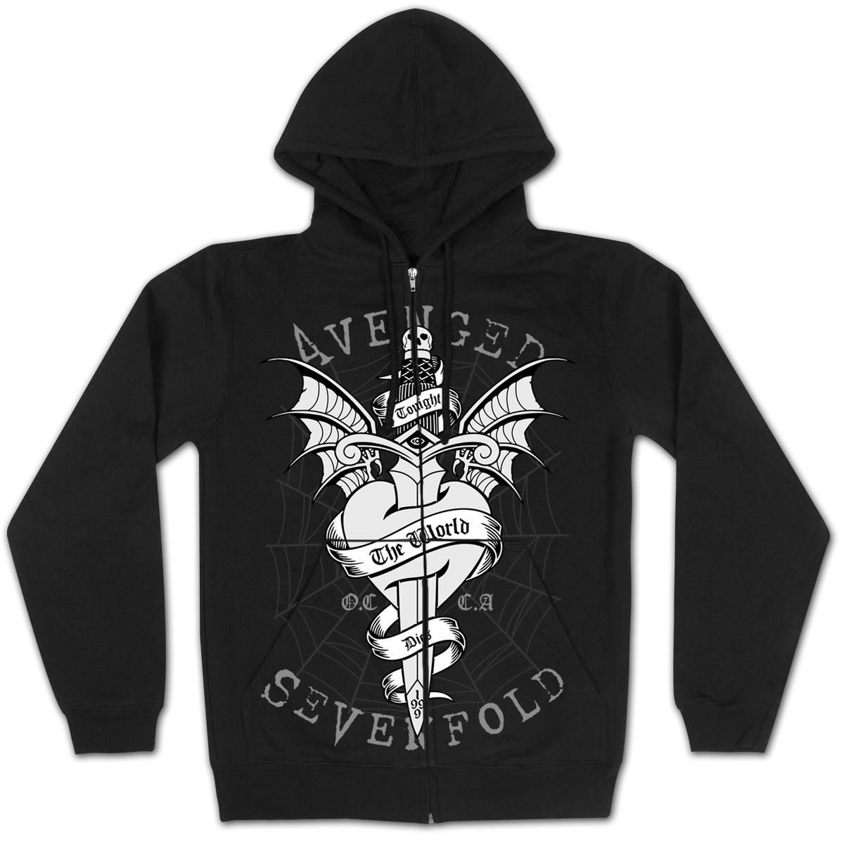 Avenged Sevenfold Cloak-Dagger Zip Hoodie