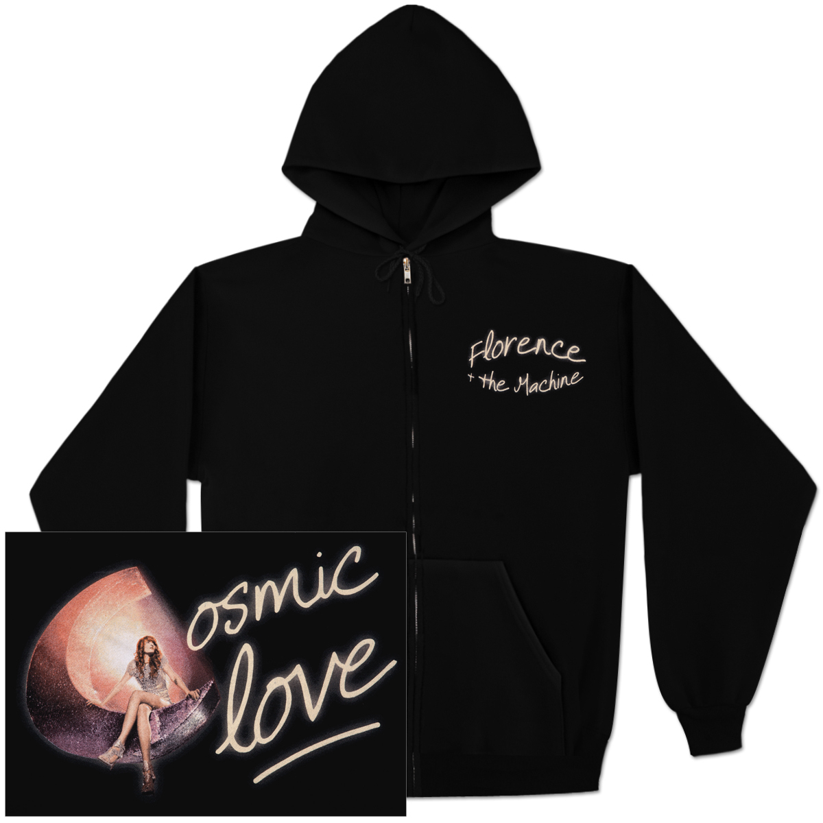 Florence and The Machine Cosmic Love Zip Hoodie