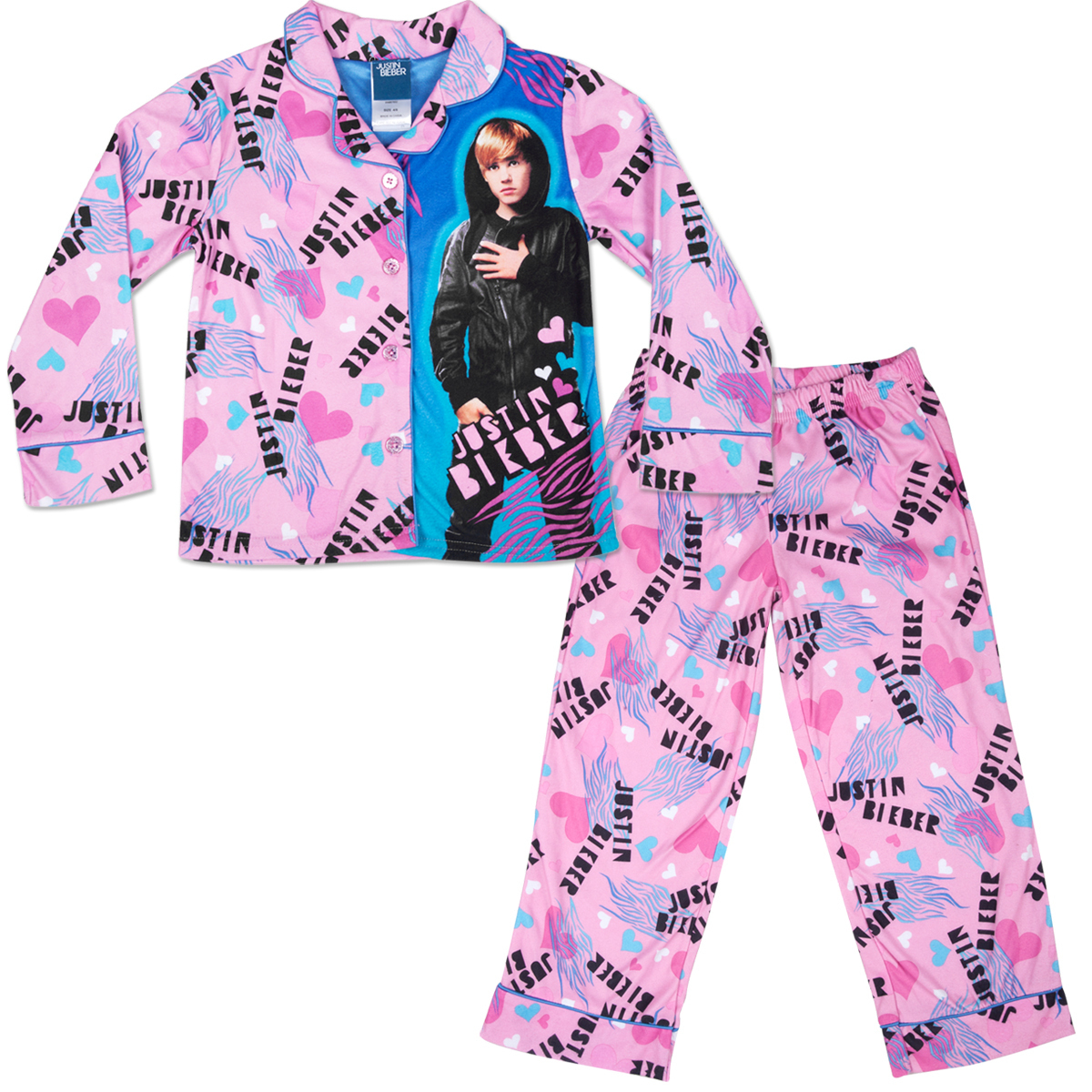 Justin Bieber Wild Heart Coatstyle Kids' Pajama Set