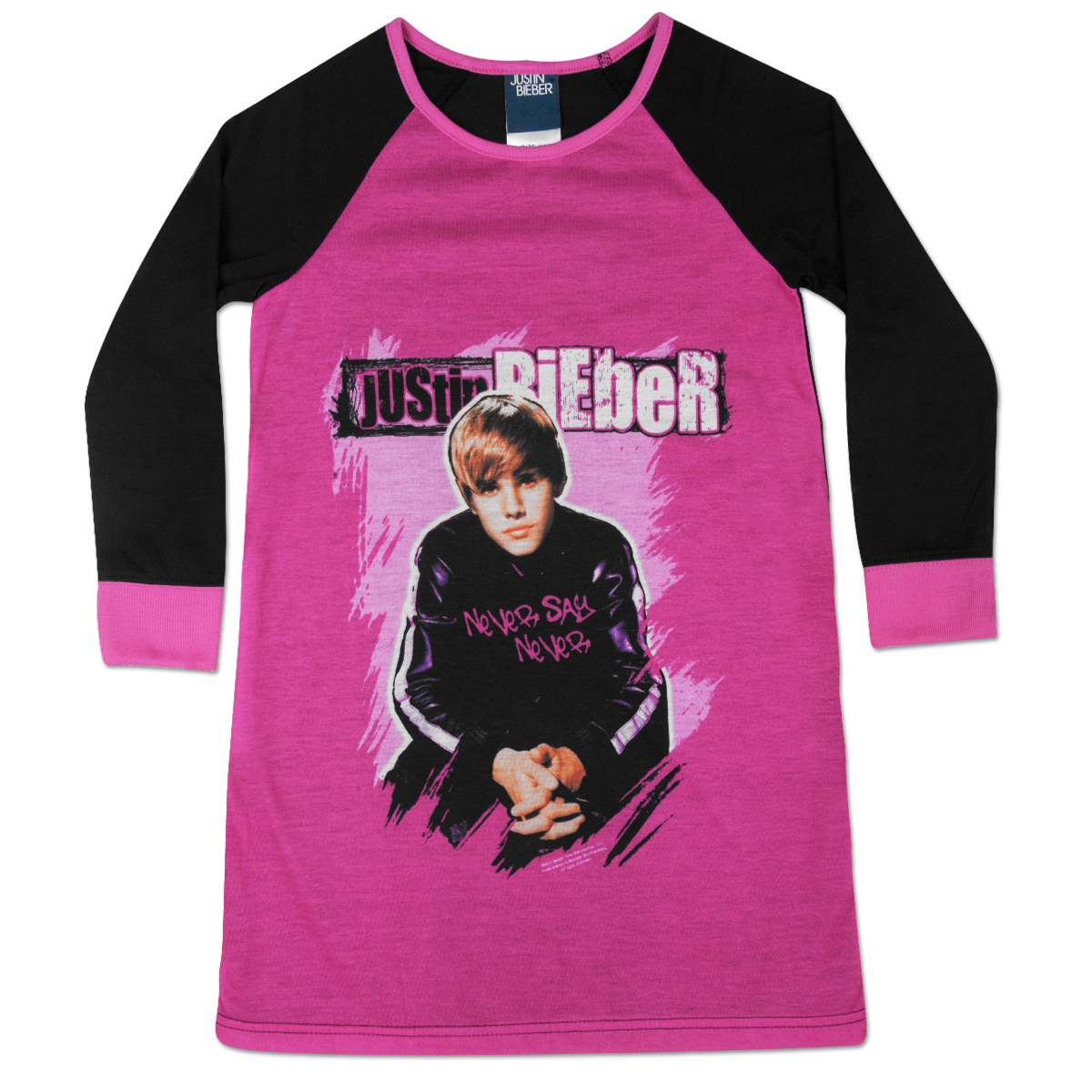 Justin Bieber I Love JB Kids Long Sleeve Dorm Tee