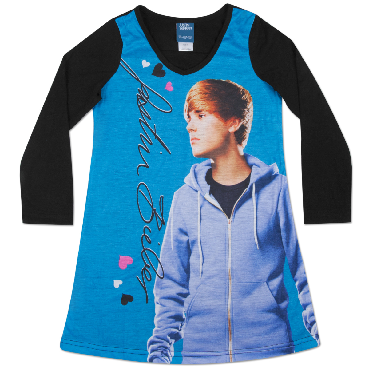 Justin Bieber The Bieb-Star 2 Kids Long Sleeve Dorm Tee